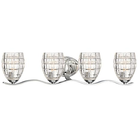 "Austine 4-Light 30 3/4"" Wide Chrome Bath Light"
