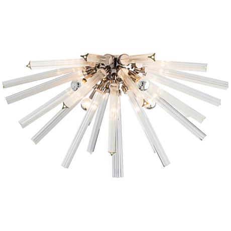 "Arteriors Home Hanley 30"" Wide Nickel Ceiling Light"