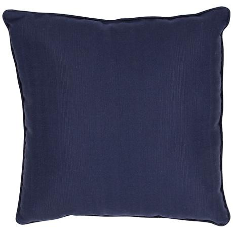 "Jaipur Veranda Insignia Blue 20"" Square Throw Pillow"