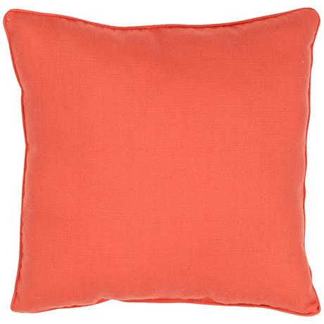"Jaipur Veranda Chili Red Orange 20"" Square Throw Pillow"