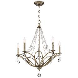 "Donita Mystic Gold 24"" Wide 5-Light Chandelier"