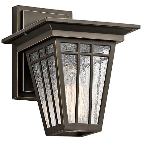 "Kichler Woodhollow 9 1/2"" High Bronze Outdoor Wall Light"