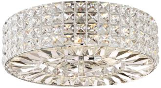 "Possini Euro Avera 15 1/2"" Wide Chrome Crystal Ceiling Light (9H781) 9H781"