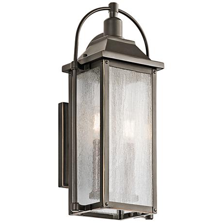 "Kichler Harbor Row 18 1/2"" High Bronze Outdoor Wall Light"