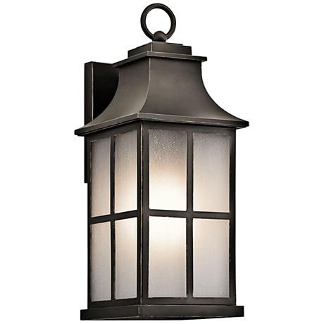 "Kichler Pallerton Way 17 1/2""H Bronze Outdoor Wall Light"
