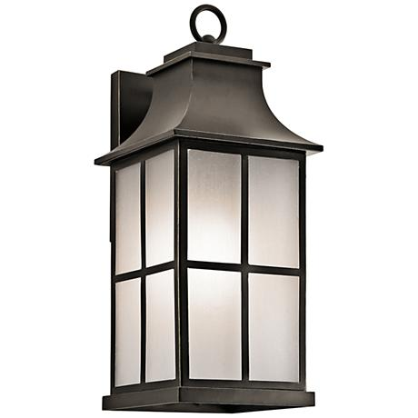 "Kichler Pallerton Way 20 1/4""H Bronze Outdoor Wall Light"