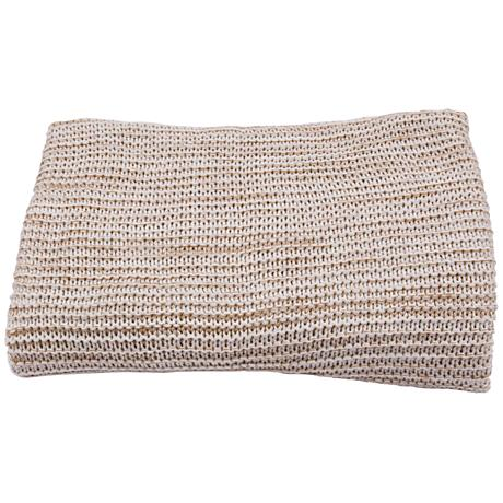 Jaipur Gem Light Tan Acrylic Throw Blanket