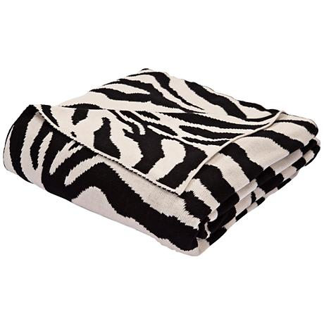 Jaipur National Geographic Black and White Throw Blanket