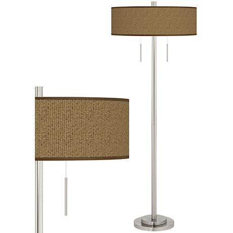 Entwine Taft Giclee Brushed Nickel Floor Lamp