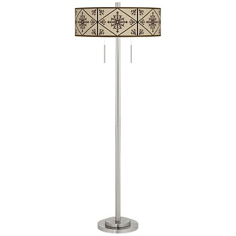 Chambly Taft Giclee Brushed Nickel Floor Lamp