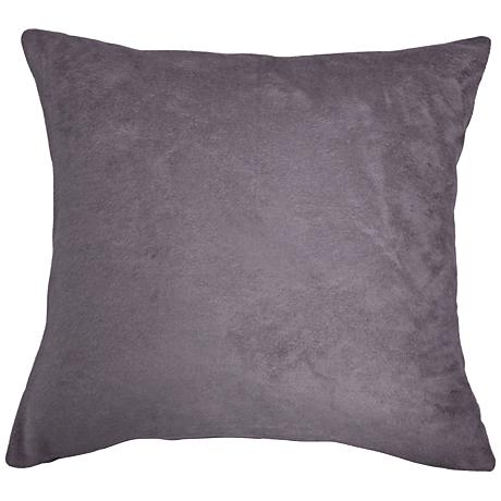 "Steel Gray Bamboo Velvet 24"" Square Throw Pillow"