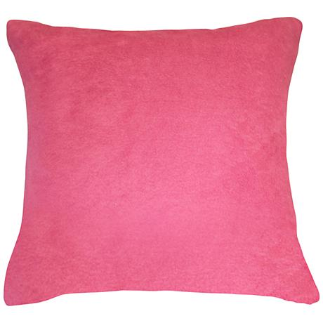 "Orchid Pink Bamboo Velvet 18"" Square Throw Pillow"