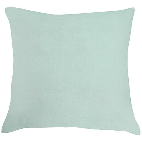 "Spa Blue Bamboo Velvet 18"" Square Throw Pillow"