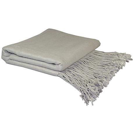 Dove Gray Bamboo Velvet Throw Blanket
