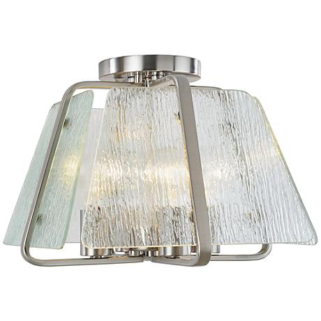 "Artcraft La Traviata 13"" Wide Brushed Nickel Ceiling Light"