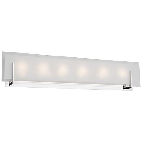 "Artcraft Kingsley 31 1/2"" Wide Chrome 6-Light LED Bath Light"
