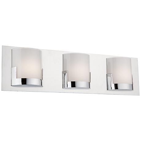 "Artcraft Rialto 22"" Wide Chrome 3-Light LED Bath Light"