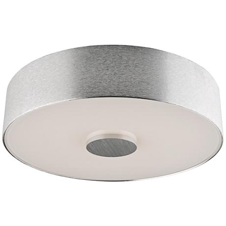"Fantasia 10"" Wide Brushed Aluminum LED Ceiling Light"