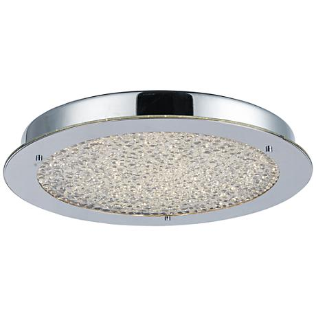 "Artcraft Stardust 16"" Wide Chrome 1-Light LED Ceiling Light"