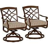 Trisha Yearwood Coffee Outdoor Rocking Dining Chair Set of 2