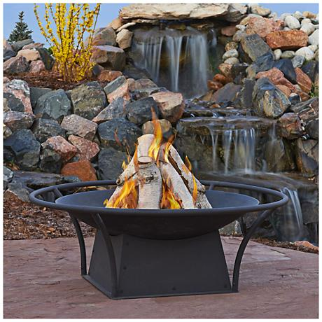 Real Flame Parker Wood-Burning Outdoor Fire Bowl