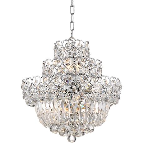 "Tilda Chrome 17 1/2"" Wide 8-Light Crystal Chandelier"