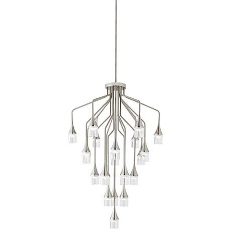 "Tech Lighting Patrona 25"" Wide Satin Nickel Chandelier"