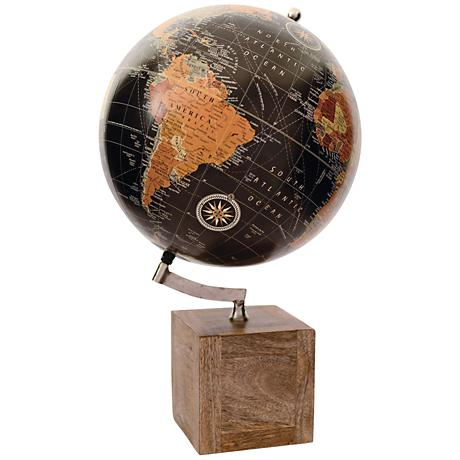 Columbus Mango Wood Globe on Stand