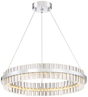 "Carlyle 23 3/4"" Wide Chrome and Crystal LED Pendant Light (9J536) 9J536"