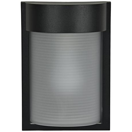 "Destination 9 3/4"" High Black LED Outdoor Wall Light"