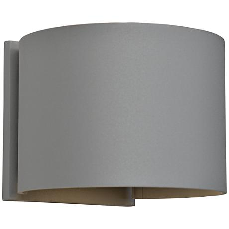"Curve 4 1/2"" High Satin 2-Light LED Outdoor Wall Light"