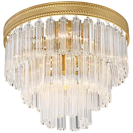 "Candide 14"" Wide Antique Gold Ceiling Light"