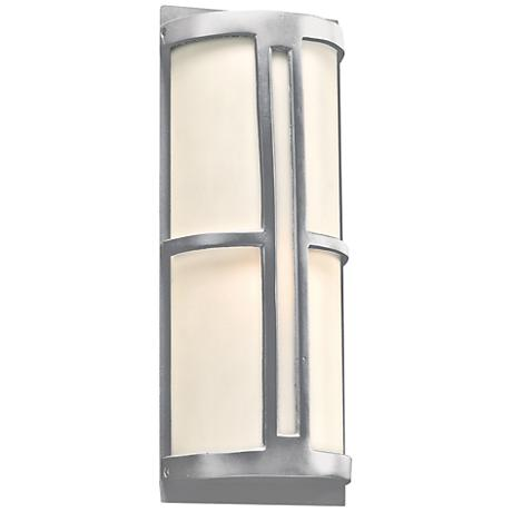 "Rox 17"" High Silver Outdoor Wall Light"