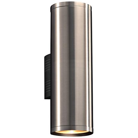 "Marco 15 1/2""H Brushed Aluminum 2-LED Outdoor Wall Light"