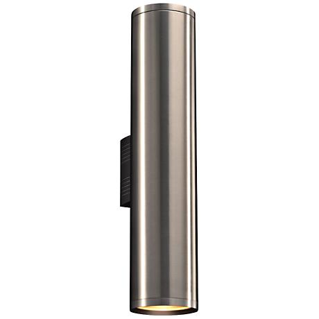 "Marco 23 1/2""H Brushed Aluminum 2-LED Outdoor Wall Light"
