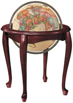 Replogle Queen Anne Antique Ocean Standing Globe (9K291) 9K291