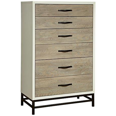 Spencer Gray and Parchment 5-Drawer Chest