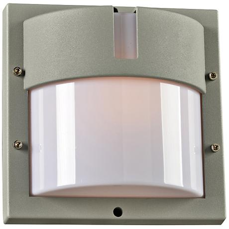 "Jedi 9 1/2"" High Short Silver Outdoor Wall Light"