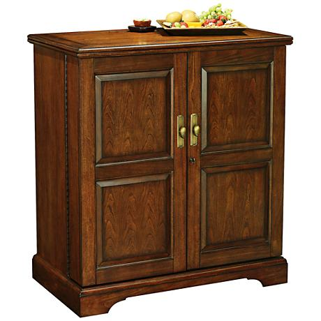 Lodi Americana Cherry 2-Door Wine and Bar Cabinet