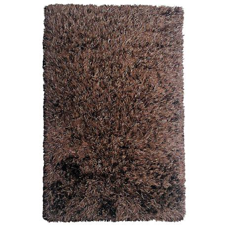 Chandra Onex Brown Shag Area Rug