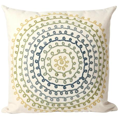 "Visions II Ombre Threads Cool 20"" Square Outdoor Pillow"