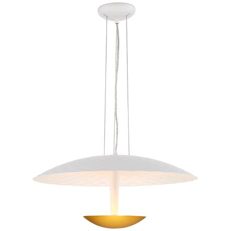 "Lindcove 21 3/4"" Wide Matte Gold Contemporary Pendant"