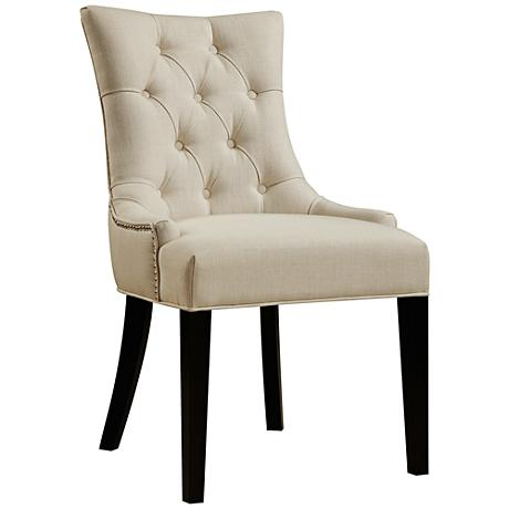 DuVal Textured Celine Flour Fabric Dining Side Chair