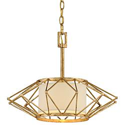 "Calliope 17 3/4"" Wide Rustic Gold Leaf Pendant Light"