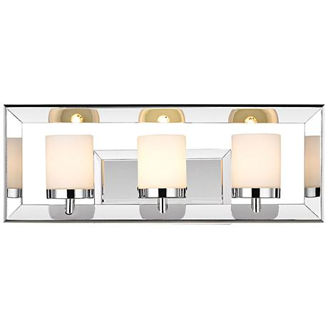 "Smyth II 19"" Wide 3-Light Chrome Bath Light"