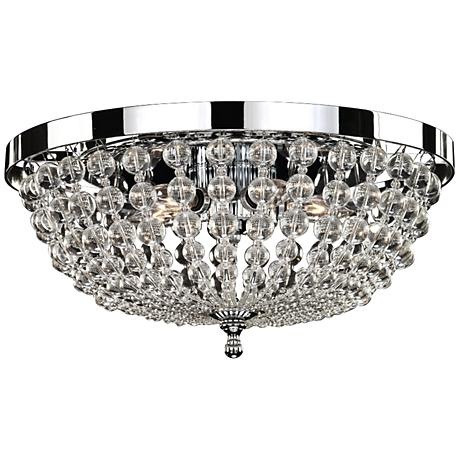 "Arcadia 16 1/2"" Wide 40 Watt 5-Light Chrome Ceiling Light"
