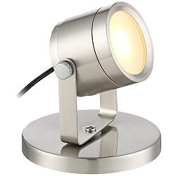 "Ladera Brushed Steel 3 1/2"" High LED Uplight"