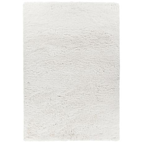 Chandra Osim White Shag Area Rug