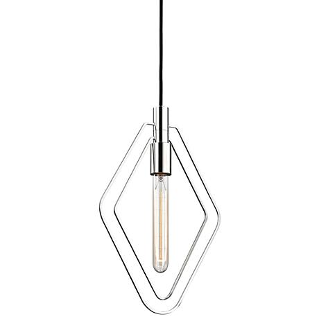 "Masonville 9 3/4"" Wide Polished Nickel Mini Pendant"