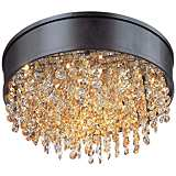 "Maxim Mystic 16"" Wide Bronze LED Ceiling Light"